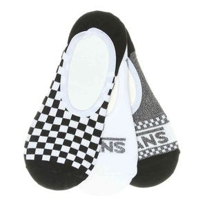 VANS CHECKERED WOMEN'S NO SHOW LINERS – 3 PACK